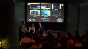 Julian Tuna giving Q+A at CLIPPED.TV Premieres Launch