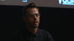 Dyllan Corbett giving Q+A at CLIPPED.TV Premieres Launch