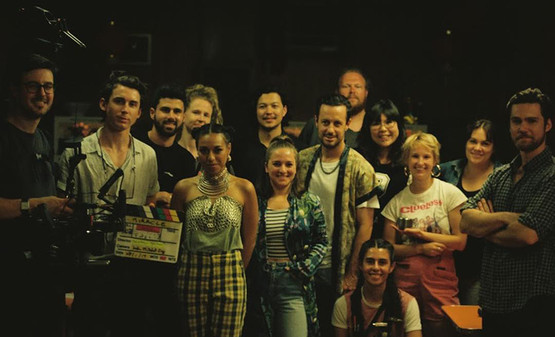 Melbourne-based cast and crew on 'Miracle' music video.