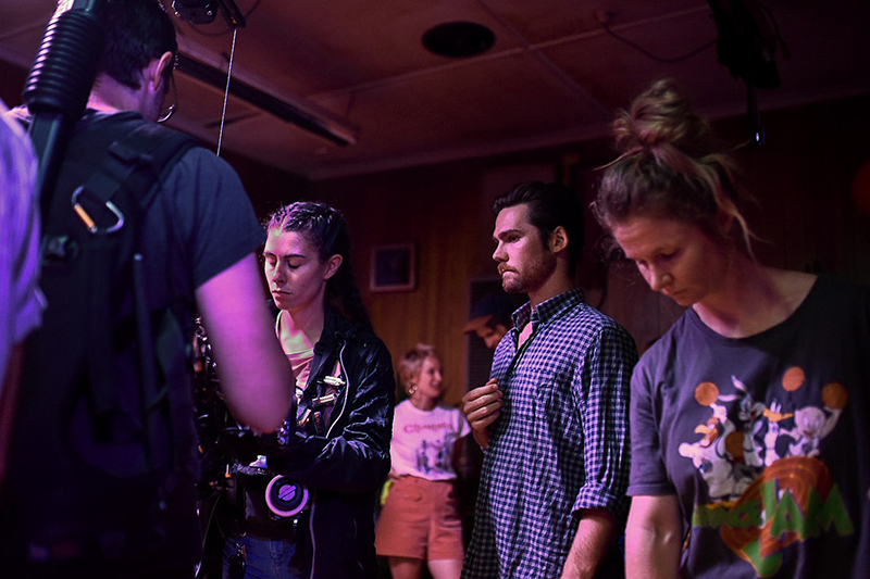 Crew on standby for 'Miracle' music video.